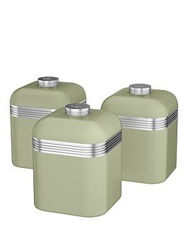 swan-retro-set-of-3-canisters-green