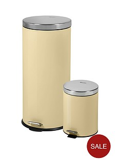 swan-swan-retro-30-litre-and-5-litre-bin-set