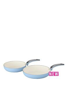 swan-retro-set-of-2-frying-pans-ndash-blue