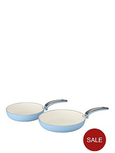 swan-swan-retro-set-of-2-frying-pans-ndash-blue