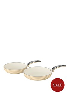swan-retro-set-of-2-frying-pans-ndash-cream