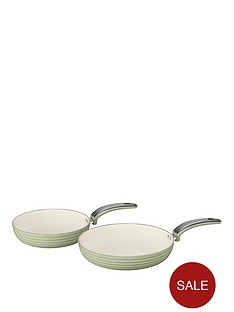 swan-swan-retro-set-of-2-frying-pans-ndash-green