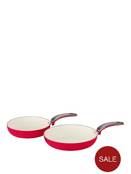 swan-retro-set-of-2-frying-pans-ndash-red