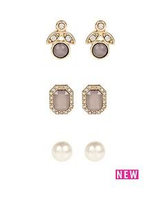 river-island-river-island-pearl-3pk-stud-earrings