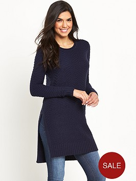 v-by-very-textured-knit-side-split-tunic