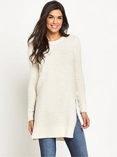 v-by-very-textured-knit-side-split-tunic