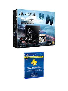 playstation-4-ps4-1tbnbsplimited-edition-black-console-with-star-wars-battlefront-and-365-day-psnnbspcardnbsp