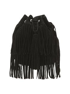 oversized-tassle-fringed-suede-duffle-bag
