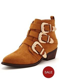 shoe-box-vine-triple-buckle-western-detail-ankle-boot-tan
