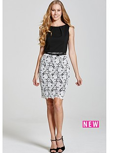paper-dolls-black-and-white-lace-skirt-dress