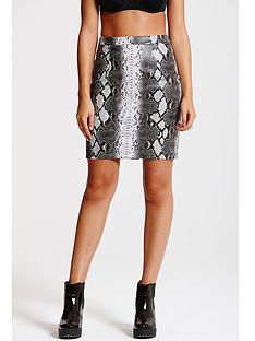 girls-on-film-girls-on-film-grey-snakeskin-pu-leather-skirt
