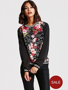 girls-on-film-girls-on-film-red-floral-spot-sweatshirt