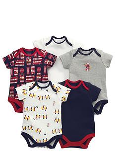mamas-papas-5pk-london-buses-bodysuits