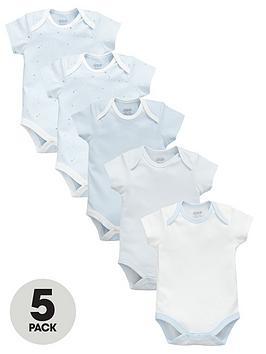 mamas-papas-baby-boys-star-print-bodysuits-5-pack