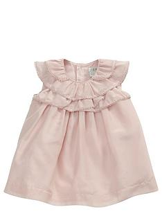 mamas-papas-baby-girls-frill-neck-dress