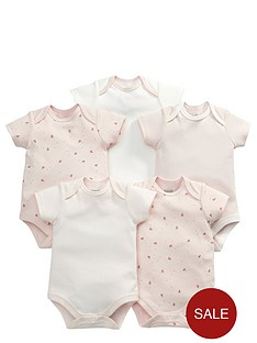 mamas-papas-baby-girls-pink-print-bodysuits-5-pack