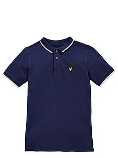 lyle-scott-ss-tipped-polo-deep-indigo