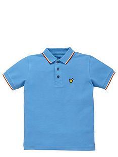 lyle-scott-ss-tipped-polo-glaze-blue