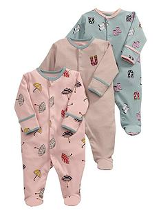 mamas-papas-3pk-rainy-days-sleepsuits