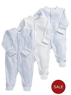 mamas-papas-baby-boys-blue-sleepsuitsnbsp3-pack