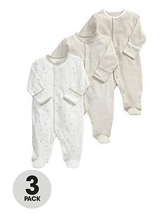 mamas-papas-3pk-sand-sleepsuits