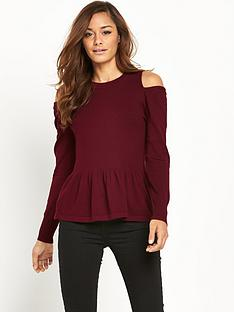 v-by-very-peplum-cold-shoulder-jumper