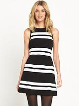Mono Stripe Knit Dress