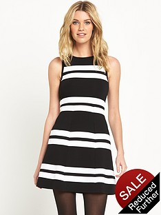 v-by-very-mono-stripe-knit-dress