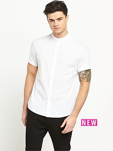 v-by-very-short-sleeve-grandad-collar-shirt