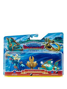 skylanders-superchargers-sea-racing-pack-deep-dive-gill-grunt-reef-ripper-and-golden-queen-sea-villain-trophy