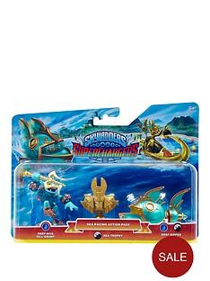 skylanders-superchargers-sea-racing-pack-deep-dive-gill-grunt-reef-ripper-and-golden-queen-sea-villain-trophy