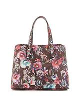 Floral Contrast Lining Tote Bag