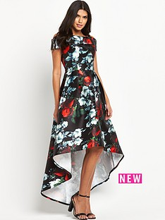 chi-chi-london-digital-floral-print-bardot-dipped-hem-maxi-dress
