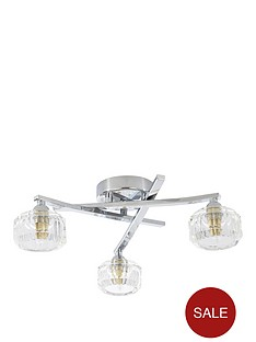 3-light-faceted-glass-ceiling-light-fixture