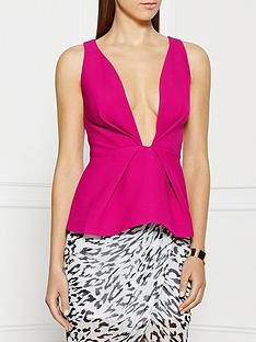 finders-keepers-the-creator-plunging-neckline-top-pink