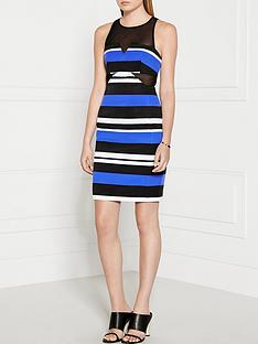 finders-keepers-nothing-to-lose-striped-dress-bluewhiteblack