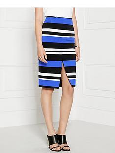 finders-keepers-stand-still-striped-skirt-bluewhiteblack