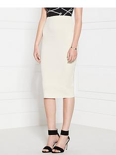cmeo-collective-sober-thoughts-pencil-skirt-ivory