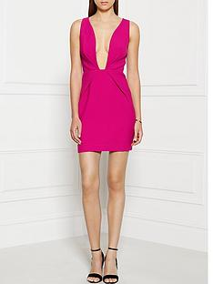 finders-keepers-the-creator-plunging-neckline-dress-pink