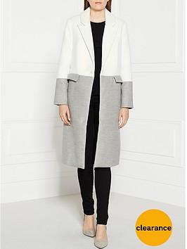 cmeo-collective-little-talk-colour-block-coat-whitegrey