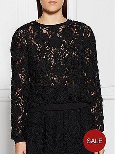 supertrash-keep-daisy-lace-overlay-jumper-black