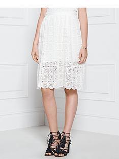 supertrash-stardust-lace-knee-length-skirt-white
