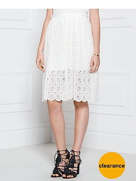 supertrash-stardust-lace-knee-length-skirt-white