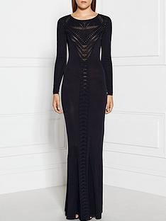 supertrash-drease-sheer-panneled-maxi-dress-black