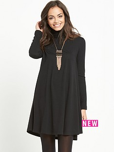 glamorous-glamorous-roll-neck-swing-dress