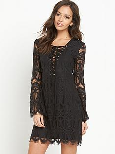 glamorous-glamorous-lace-tie-front-mini-dress