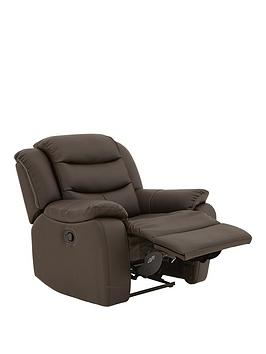 Rothbury Luxury Faux Leather Manual Recliner Armchair thumbnail