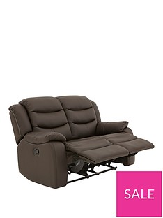 972104b1677d11 Rothbury Luxury Faux Leather 2-Seater Manual Recliner Sofa