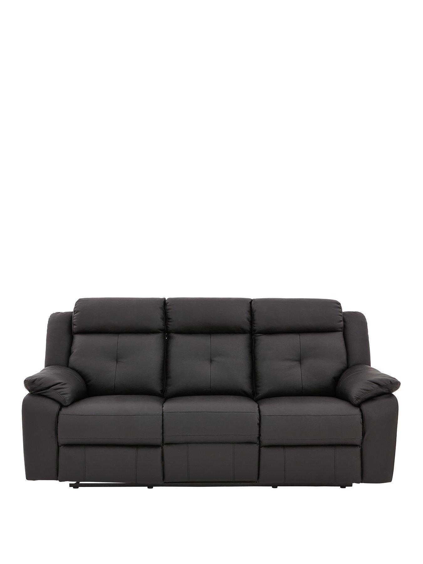 3-Seater Denzel Luxury Recliner Sofa (Faux Leather)