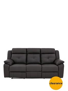 denzelnbspluxury-faux-leather-3-seaternbspmanual-recliner-sofa
